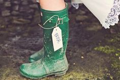 Festival wedding boots for the bride