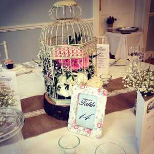 vintage birdcage wedding
