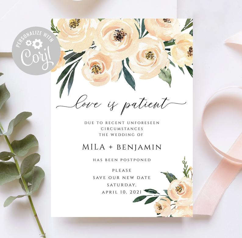 love is patient change the date stationery