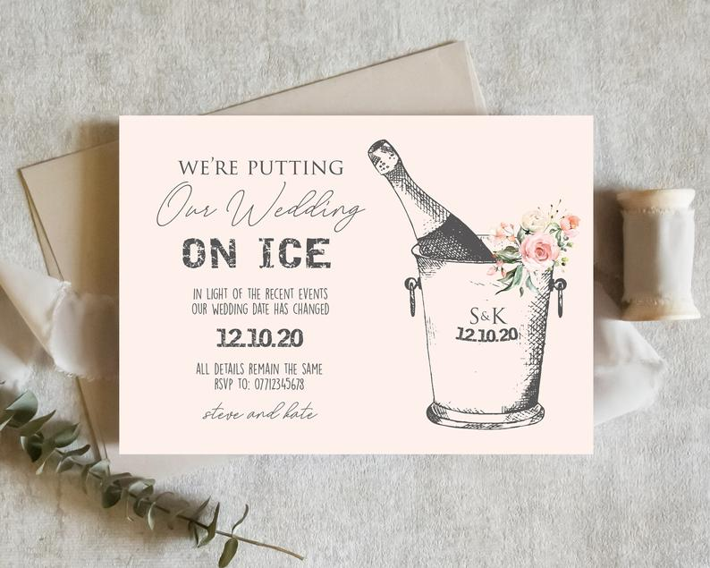 Change the Date Wedding Stationery
